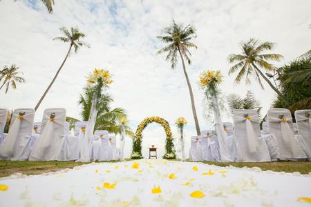 목적지 결혼식 야외 결혼식 통로 스톡 콘텐츠