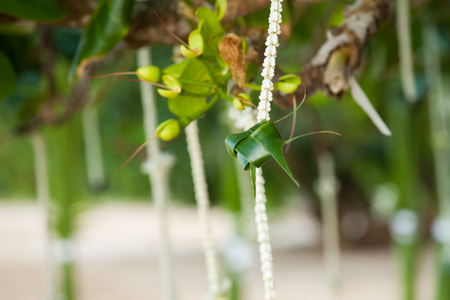 Wedding floral decorations on the beach in Thailand