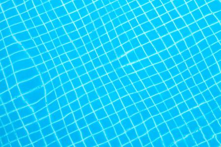 Blue ripped water in swimming pool,Malaysia. Stock Photo