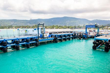 sea port of seatran ferry terminal a pier koh samui,surat thani on April, 2016 in Thailand.