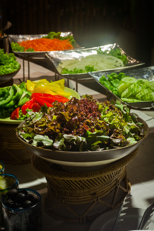 Vegetable salad  for buffet line in wedding party.