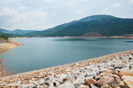 The largest dam in Penang, Malaysia.The Teluk Bahang Dam