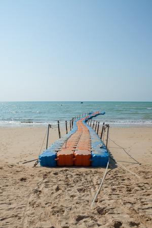 pontoon walkway in the sea,Phuket Thailand. 스톡 콘텐츠