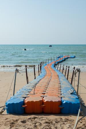 pontoon walkway in the sea,Phuket Thailand. Stok Fotoğraf