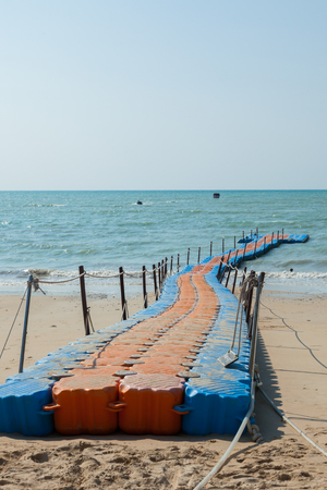 pontoon walkway in the sea,Phuket Thailand. 스톡 콘텐츠