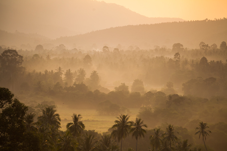 Beginning of morning at Koh Samui Viewpoint, national park 版權商用圖片