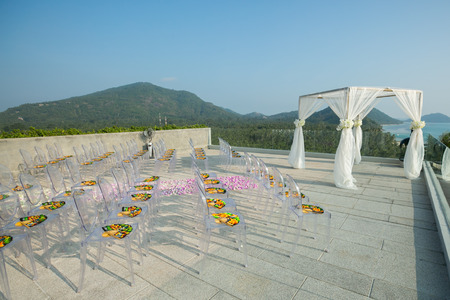 wedding chair setup for wedding ceremony in Thailand