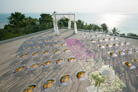 Wedding setup in Koh Samui island, Thailand