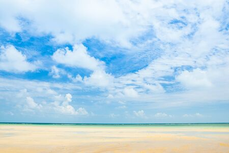 beautiful sea, sand and blue sky in Koh Samui, Thailand