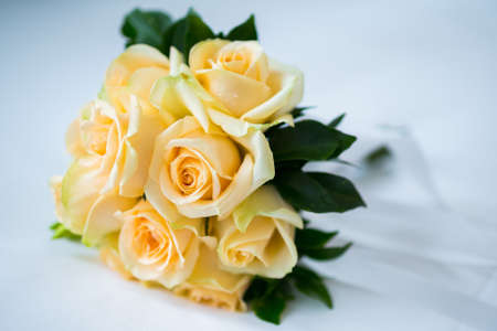 bouquet of roses for wedding day. (Selective Focus)