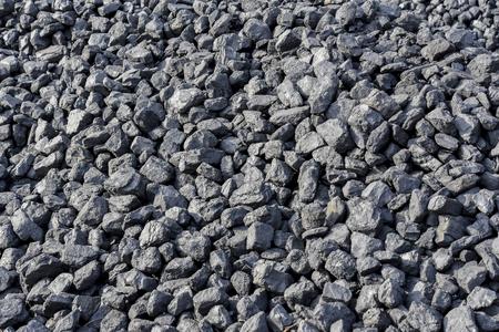 Black coal used for a steam train in Pretoria South Africa