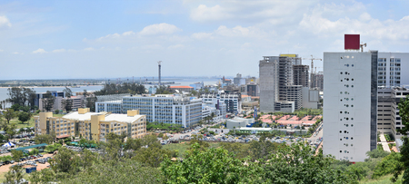 Panorama of Maputo the capital of Mozambique with a view near the Indian Ocean