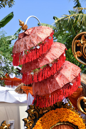 Decoration used during a traditional Balinese wedding 免版税图像 - 96488170