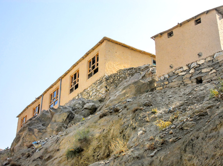 Informal settlements in kabul Afghanistan 免版税图像