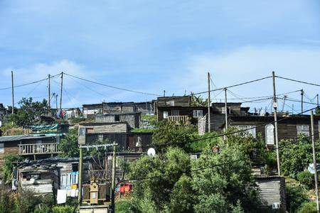 Informal settlements near Plettenberg Bay South Africa on the garden route