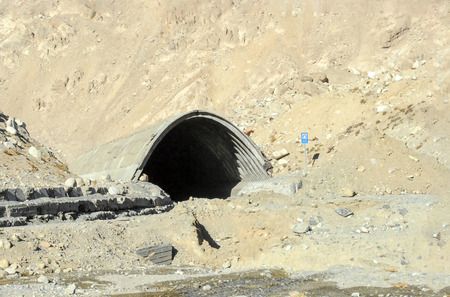 Tunnel in the Salang Pass in the mountains of Afghanistan in the Hindu Kush connecting the Parwan and Baghlan provinces