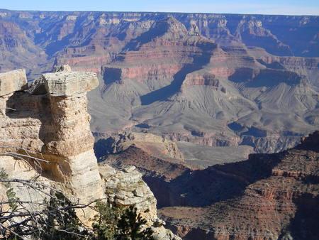 Looking Into the Grand Canyon Фото со стока