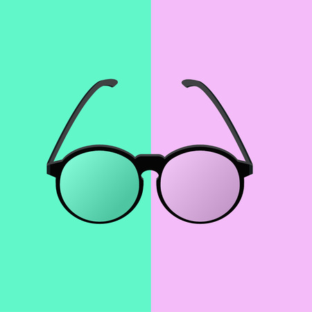 eyewear fashion: flat design glasses eyewear