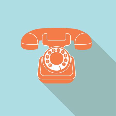 vintage telephone: vintage telephone vector