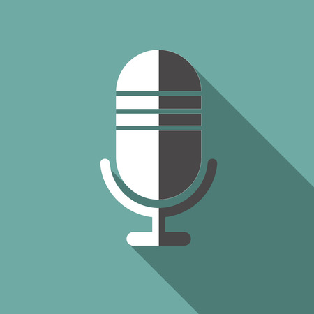 single songs: flat microphone icon Illustration