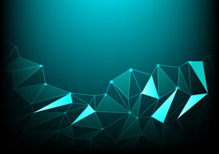 deep sea: blue deep sea polygon background