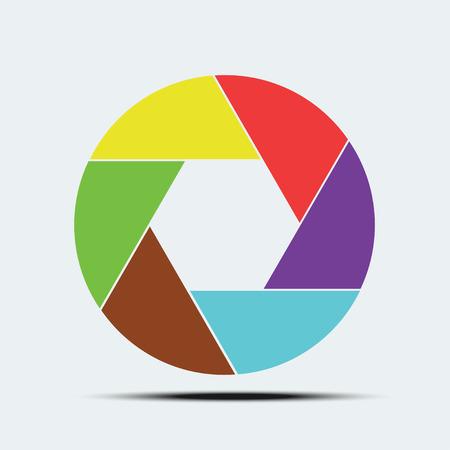 len: logo len of camera vector design Illustration