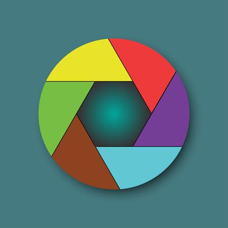 len: len of camera icon vector design