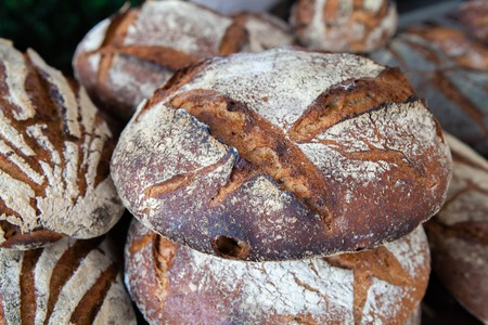 Close up of delicious and freshly baked Pain de campagne