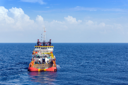 handling: Anchor handling tug in the open sea Stock Photo