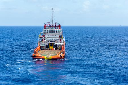 handling: Anchor handling tugboat Stock Photo