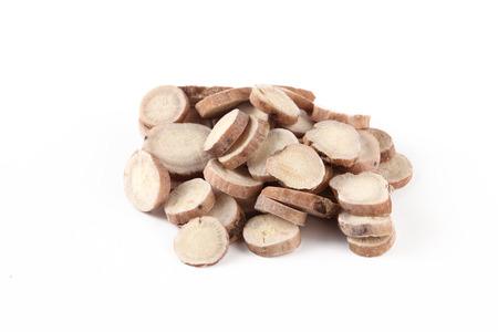 Chinese herbal medicine, Radix Paeoniae Alba 스톡 콘텐츠