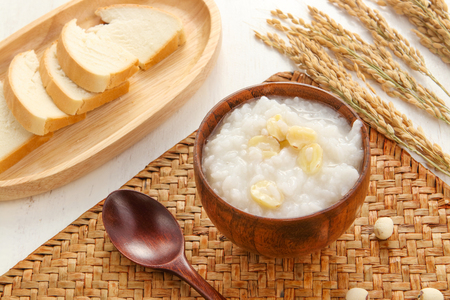 Lotus porridge Stock Photo