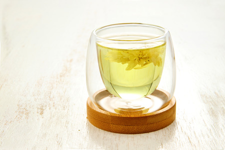 Glass tea and chrysanthemum tea