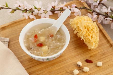 Lotus Seeds and White Fungus Reklamní fotografie
