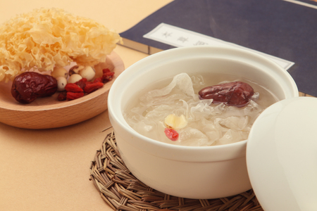Lotus Seeds en White Fungus-dessert Stockfoto