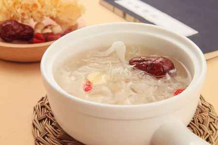 Lotus Seeds and White Fungus  dessert 写真素材