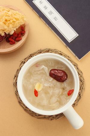 Lotus Seeds and White Fungus dessert