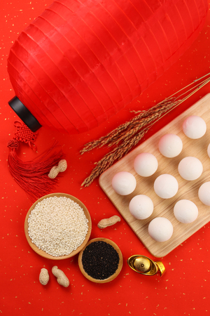 Chinese traditional food, glutinous rice balls