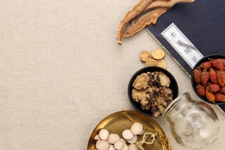 Chinese medicine in retro scene