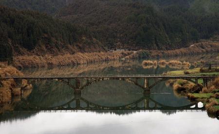 pedestrian bridges: Small bridge flowing water