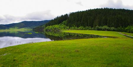 plateau: Plateau and lake