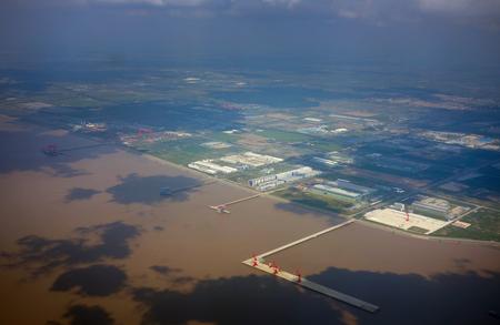 pudong: Aerial Pudong terminals