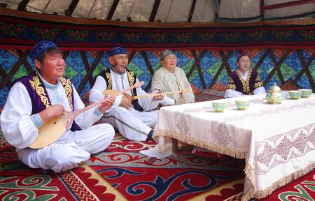 wedding customs: Kazakh singers Editorial