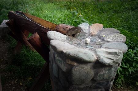 sink: water drinking stone sink