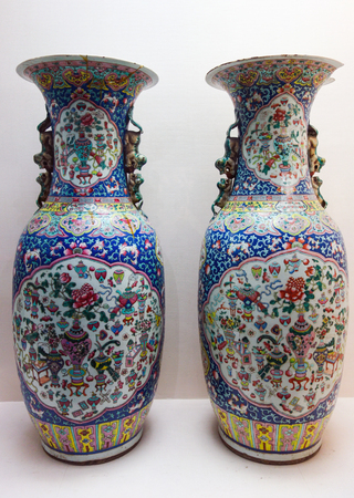 venues: Porcelain vase