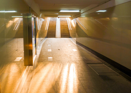 underground passage: Underground passage in an urban city