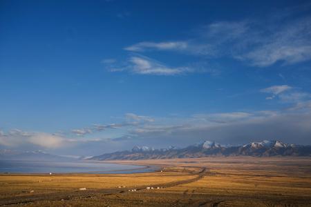 bole: Lake morning scenery Stock Photo