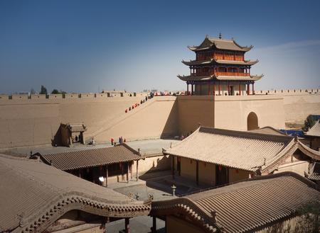 jiayuguan pass tower: ancient building at ming dynasty