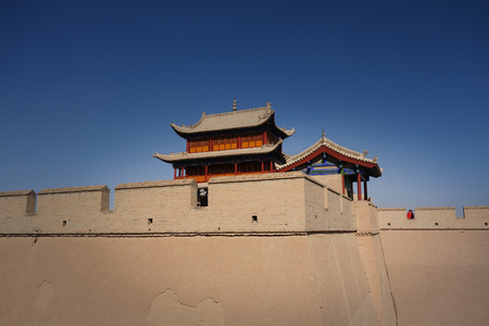 jiayuguan pass tower: The Ming Dynasty tower Editorial