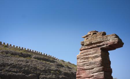 jiayuguan pass tower: Jiayuguan sculpture